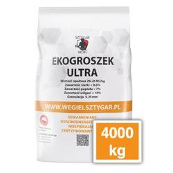 4 tony/4000 kg <br> EKOGROSZEK ULTRA  <br>WĘGIEL SZTYGAR  <br>28-26 MJ/kg