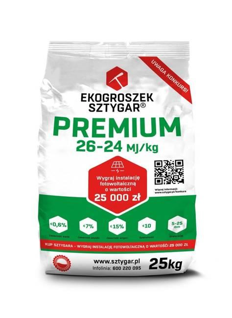 Ekogroszek Premium Sztygar® 0.5 tony - najlepsze paliwo do pieców niskoemisyjnych